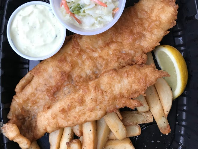 Fried haddock and chips from The Pub, available for carryout