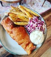 Fish and chips from The Baker's Table in Newport, on their special takeout menu