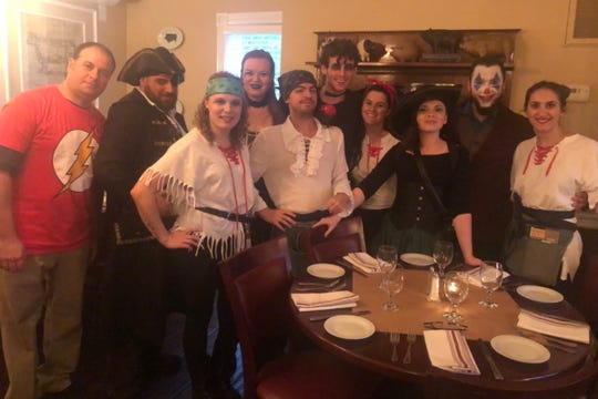 The Rocky Hill Inn staff during a Halloween party.