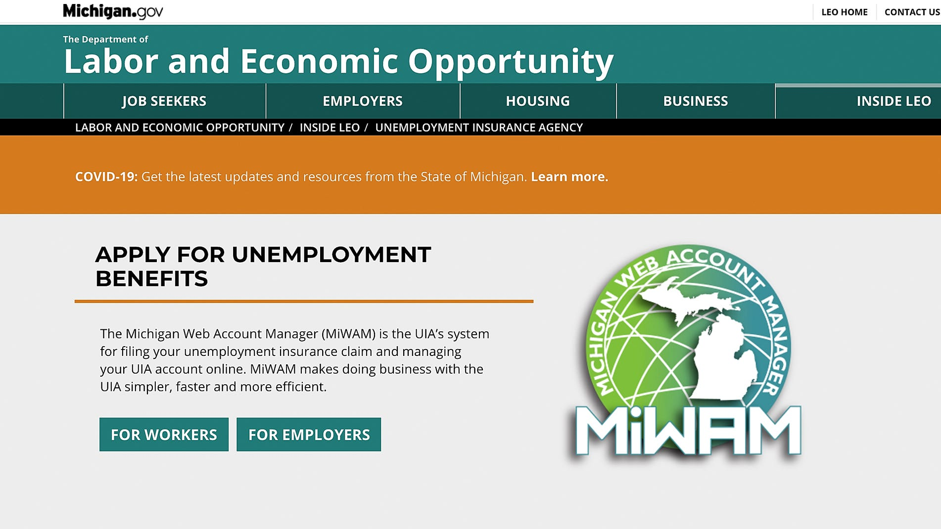 Michigan Unemployment Claims Fall Slightly But Remain High