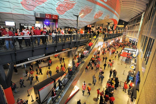 Compensation for food- and beverage-service employees, including those who staff Little Caesars Arena (pictured) and Comerica Park, has been in question since the sports industry ceased earlier this month as COVID-19 became a global pandemic.