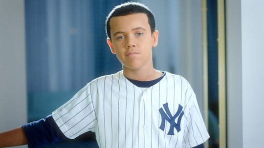 "Yankees slugger Alex Rodriguez is played by a child, Blake McCall, in ""Screwball."""