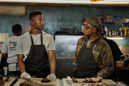 """Mamoudou Athie and Courtney B. Vance in """"Uncorked."""""""