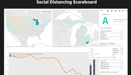 Using location data and analytics, a Norwegian company grades areas on how well they are implementing social distancing in the age of COVID-19.