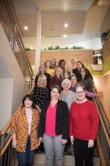 Pictured are the Women's Empowerment Series Board of Directors. Front row, from left: Ashley Wendt, Liz Morrell, Rachel McGee, Brenda Stueber, Lisette Aldrich, Tina Potter, Teresa Keenan, Sarah Dowidat, Luciana Shiokawa, Megan Nehls, Theresa Menting, Arletta Allen, Nicole Oechsner, Tiffany Gurath, Jessica Rich. Not pictured: Stephanie Albers, Dr Jeneise Briggs, Kelly Ann Chaney,  Anairahe Rosenow