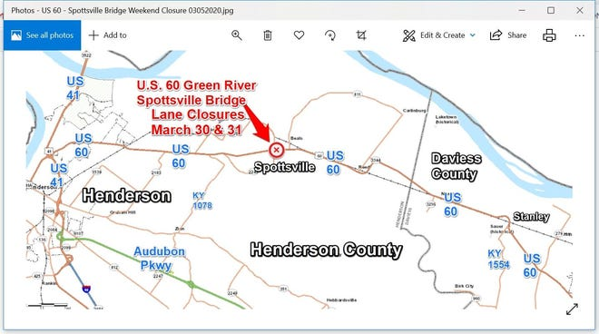 A Spottsville Bridge closure is coming up.