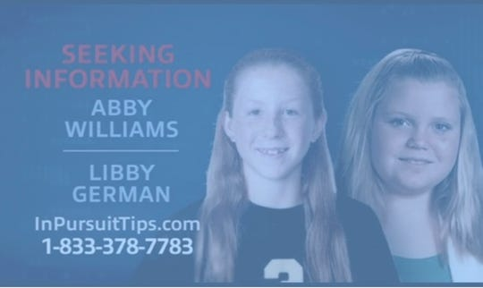 """Investigation Discovery show """"In Pursuit with John Walsh"""" will look into the 2017 murders of Abigail Williams (left) and Liberty German."""