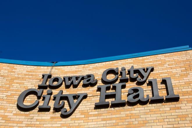 Iowa City City Hall is seen, Tuesday, March 24, 2020, at 410 E Washington Street in Iowa City, Iowa.