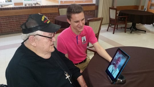 Staff at Mississippi Veterans Affairs nursing homes are using virtual visits to keep residents in touch with family and friends during the coronavirus pandemic.