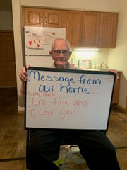 Gilbert Hall lets his family know he is doing well while staying at a Primrose Retirement Community during the ongoing coronavirus pandemic. Many senior care facilities like Primrose are limiting contact with the outside world in an effort to minimize exposure to its staff and residents.