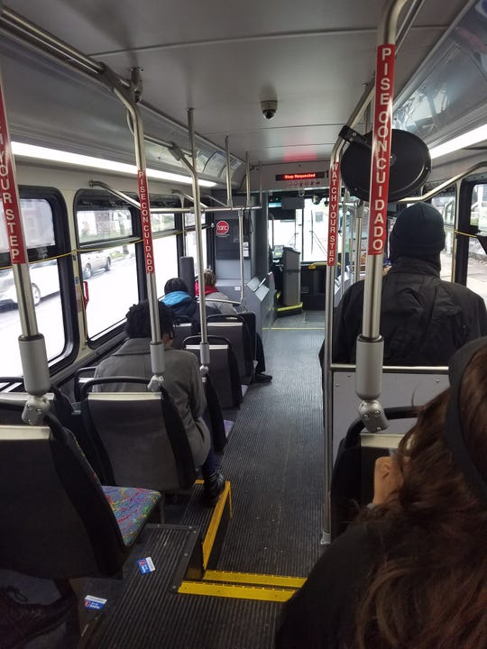 A recent TARC bus ride included several passengers.