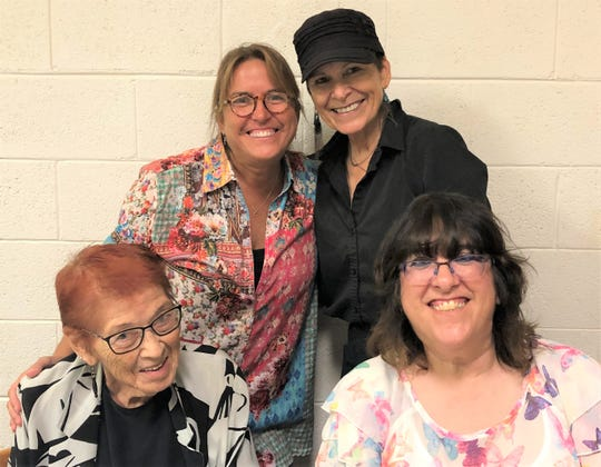 Pictured from left: Charlotte, Mia, Tootsie and Robin.