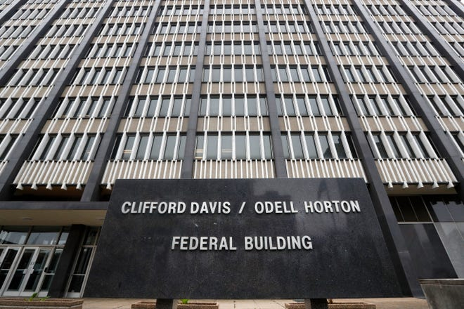 Clifford Davis-Odell Horton Federal Building in Memphis Wednesday, March 25, 2020.