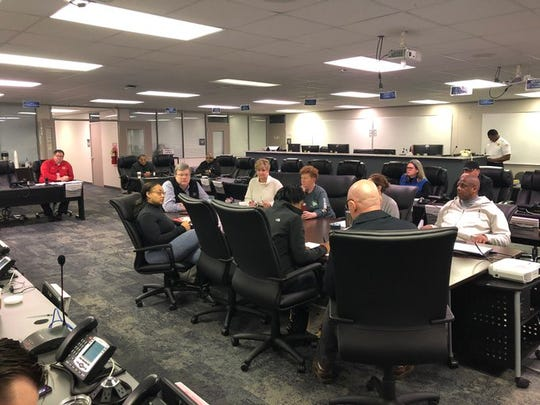 City of Memphis leaders huddle at the city's office of emergency management and game plan how to respond to the novel coronavirus pandemic.