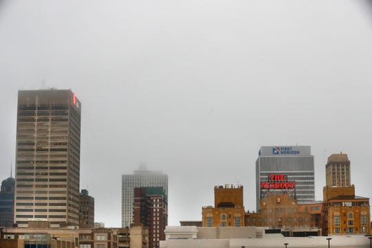 A view of downtown Memphis on day one of the city's safer-at-home policy, limiting activity to essential business in an attempt to slow the coronavirus spread that has shut down the nation's economy.