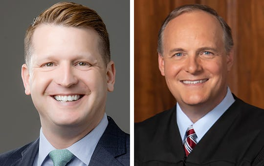 Brett Blomme, left, and Milwaukee County Circuit Judge Paul Dedinsky, right.