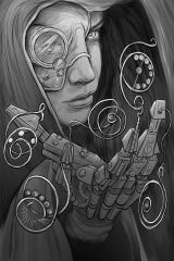 Todd Gnacinskiof Positronic Tattoo in Shorewood specializes in sci-fi, pulpand fantasy-type art.