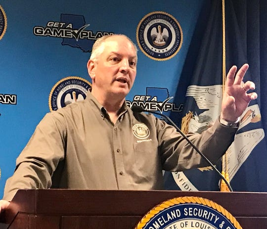 Louisiana Governor John Bel Edwards discusses the state's response to the coronavirus crisis during a Tuesday, March 24, 2020 press conference.
