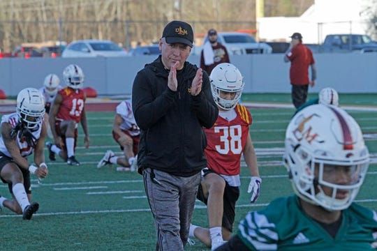 ULM football coach Matt Viator is doing his best to manage the program remotely during the COVID-19 pandemic. The Warhawks held five practices and one scrimmage before canceling the rest of spring drills on March 14.