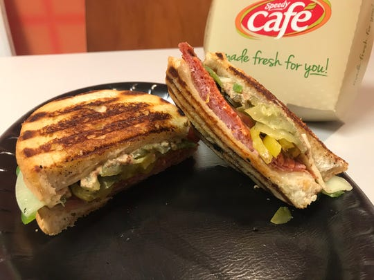 This Italian panini at Speedway's Speedy Cafe can be custom made with your favorite sandwich toppings.