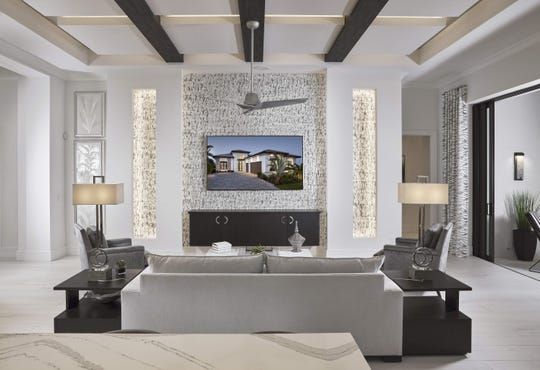 Vogue Interior designers Leslie Gebert and Salvatore Giso have completed the interior for Harbourside Custom Homes' Villa Adriana II model in Via Trevi at Miromar Lakes Beach and Golf Club.