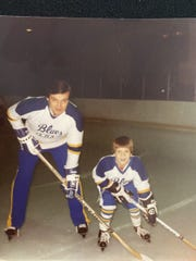David and Adam Mitchell bonded over hockey at a young age.