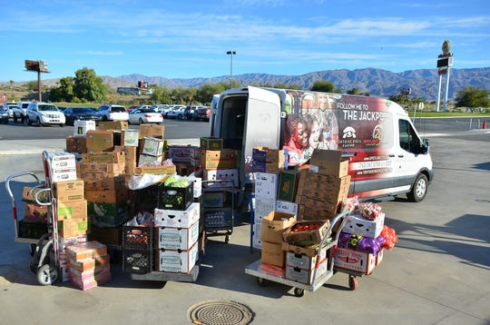 The Twenty-Nine Palms Band of Mission Indians donated thousands of pounds of food from its casino to Martha's Village and Kitchen in the wake of the coronavirus pandemic.