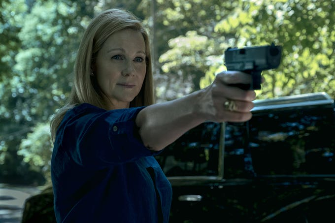 Laura Linney returns in a big way in Season 3 of 'Ozark' on Netflix. Her character, Wendy Byrde, exercises more power, with sometimes tragic results.