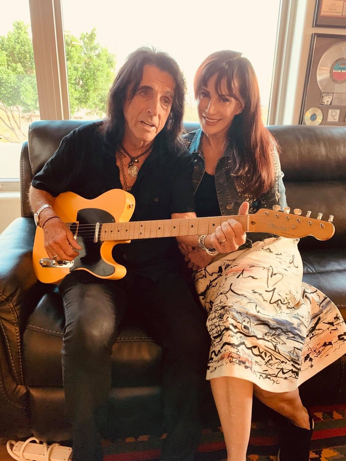 Catching up with Alice Cooper, who s home with family in Arizona after postponing his tour