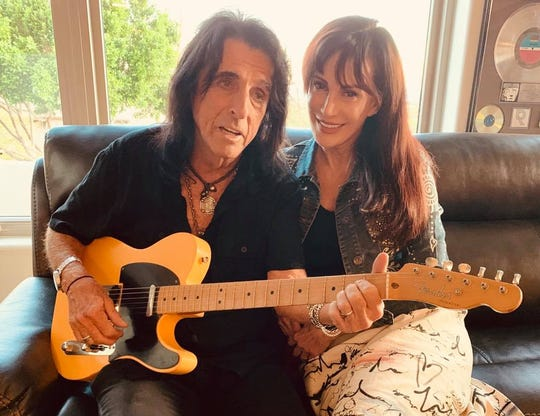 Alice and Sheryl Cooper at home in Paradise Valley, Arizona.
