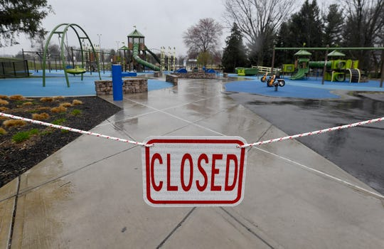 Several York area townships and boroughs, including Springettsbury Park,  have closed playgrounds in their public parks, Wednesday, March 25, 2020.