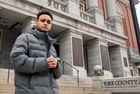 "Erick Lara Acosta, 24, immigrated to York from the Dominican Republic when he was 13. Lara, a truck driver who's currently out of work, was supposed to be naturalized on Thursday during a ceremony in York County. But U.S. Citizenship and Immigration Services has canceled all naturalization ceremonies until at least April 1. ""I grew up here,"" Lara said. ""You know, I want to have the freedom of the Americans."""