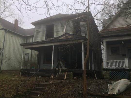 A fire early Wednesday, March 25, 2020, burned a house in the 300 block of North 14th Street.