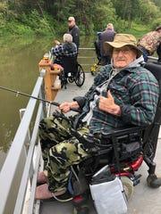 Navy veteran Leonard Cardwell on a fishing outing.