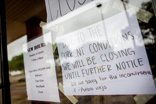 Pueblo Viejo in Austin closed its dine-in operations after Gov. Greg Abbott issued an executive order limiting social gatherings to 10 people.