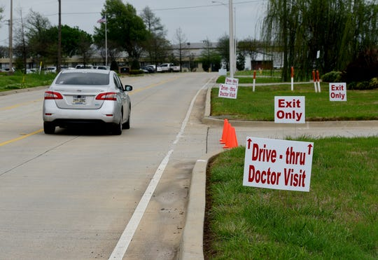The Louisiana Family Medicine Clinic in Bossier City began drive-thru doctor visits on Wednesday, March 25, 2020.