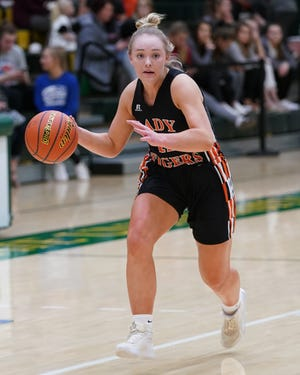 Hilary Albrecht earned Class B All-State honors after she averaged 19.1 points and 11.4 rebounds per game in leading Howard to its first state tournament appearance in 25 years.