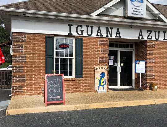 Many businesses that serve food have stayed open by switching to takeout. Iguana Azul in Waynesboro is offering curbside pickup.