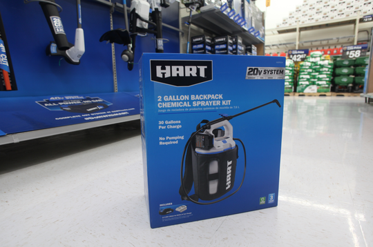 Walmart stores will soon start using two gallon sprayer kits to sanitize shopping carts.