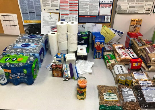 Pictured are some items recently donated to the Augusta County Sheriff's Office, which is soliciting items to help local elderly residents in need during the pandemic.