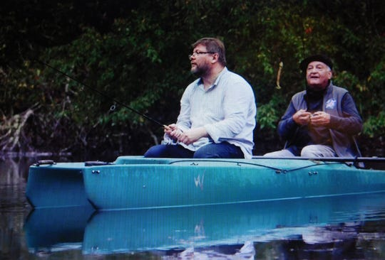 """Former Leon County Supervisor of Elections Ion Sancho, right, fishes with Finnish hacker and cyber-security expert Harri Hursti in the HBO documentary """"Kill Chain."""""""