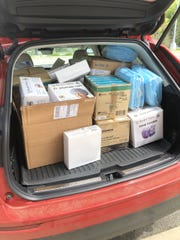 A sampling of medical supplies being donated by Tallahassee Community College.