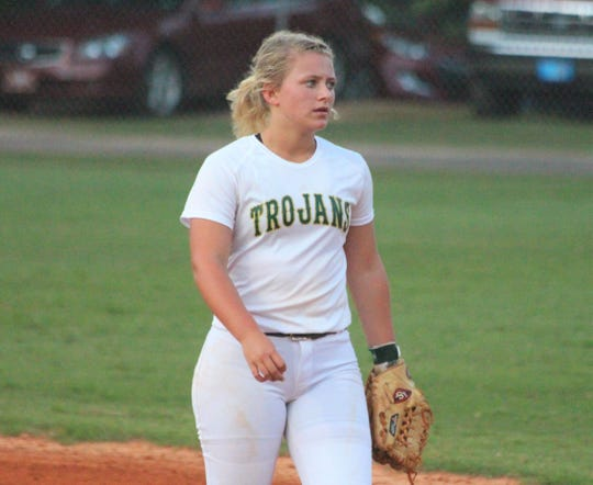 Lincoln High School softball infielder Emma Alley closes out her days as a Trojan in 2020.
