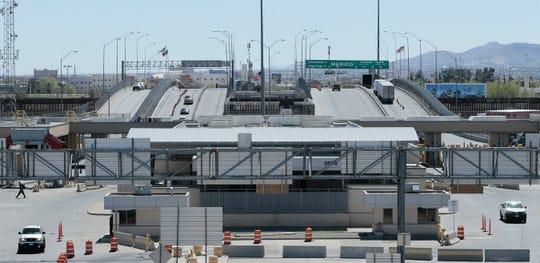 Few cars cross at the Cordova International Bridge Wednesday.