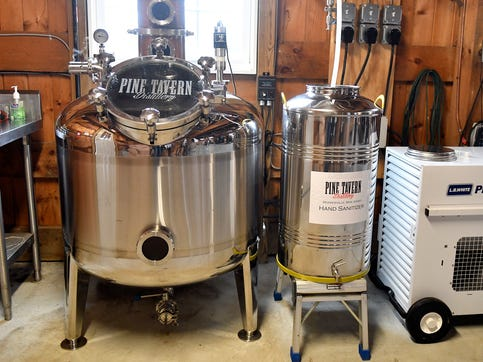 In response to the coronavirus outbreak, Pine Tavern Distillery has shifted operations from making vodka and whiskey to pumping out hand sanitizer.