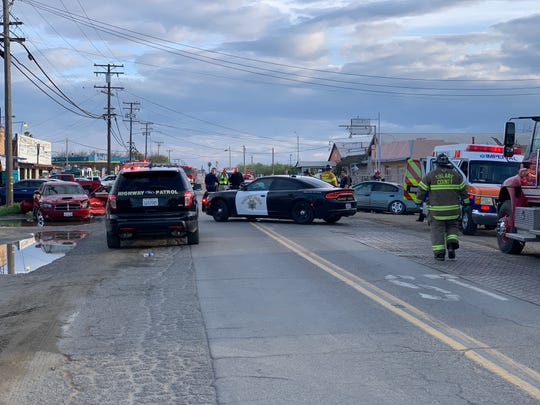 Three people were seriously injured in a wreck Tuesday evening in southern Tulare County.