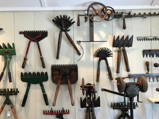Some of Morrison's hedge clippers and pruning shears.