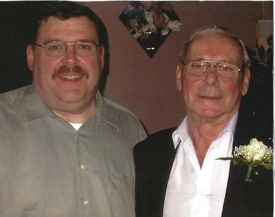 Robert Terraforte Sr. and his namesake, Robert Terraforte Jr., in 2003. The elder Terraforte died on March 21, 2020, at age 89.