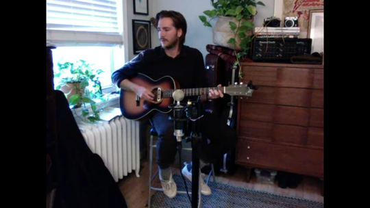 Local musician Zachary Humenik performed a live show from his home on Instagram to help raise money for out-of-work Brew HaHa! employees.
