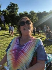 Music fan Annie Johnson at last year's Deadfest in West Chester, Pennsylvania.